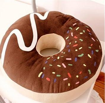 Cute Japanese Chocolate Donut Shape Plush Cushion Pillow