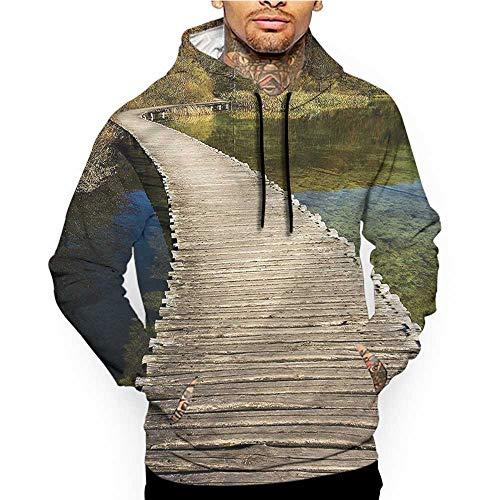 Hoodies Sweatshirt Pockets Forest,Evening Meadow Greenland,Zip up Sweatshirts for Women