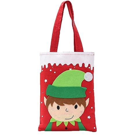 Topdo Bolsa de Regalo Navidad con Cajas de Elfo Lindo ...