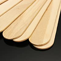 Hair Line Wooden Professional Disposable Wax Knife Spatulas Applicators 100 Pcs Box
