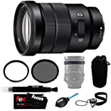 Sony SELP18105G E PZ 18-105mm F4 G OSS Mid-Range Zoom Lens with Tiffen 72mm UV Protector Filter and Tiffen 72mm Circular Polarizer and Accessories