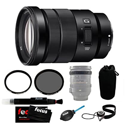 Sony SELP18105G 18-105mm Lens with 72mm CP & UV Filters and Lens Case Pro  Accessory Bundle
