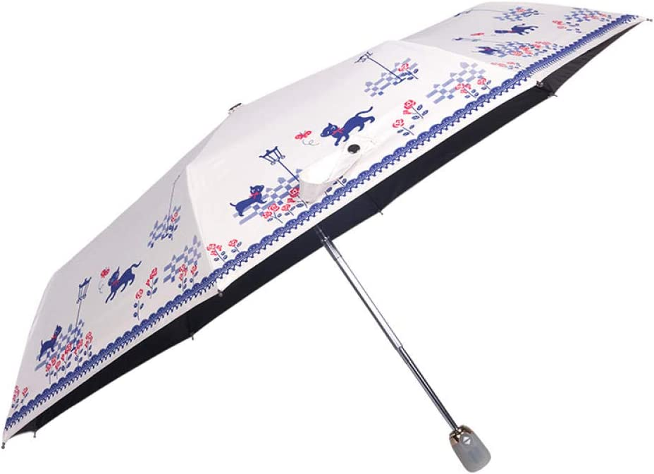 Portable/ umbrella Automatic Umbrella One Health Open Umbrella Folding Rain and Rain Dual-use Sun Sunscreen UV Protection Hedgehog radiation/ protection,UV/ protection,rust/ prevention,wind/ protection.
