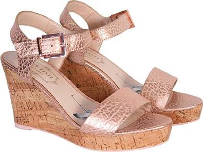 de10cfcecc1a Ted Baker Womens Metallic Pink Breen Wedge Sandals (5)  Amazon.co.uk ...