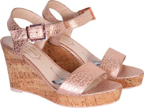 a3f2d13e5455a Ted Baker Womens Metallic Pink Breen Wedge Sandals (5): Amazon.co.uk ...