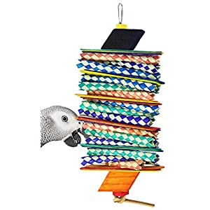 Bonka Bird Toys 1078 Big Step Shredder Parrot Cage Toys Cages African Grey Conure Amazon 57