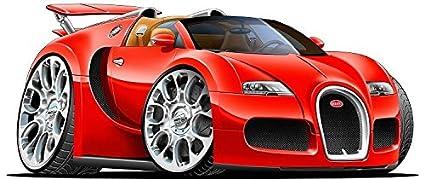 Amazon Com 12 2010 Bugatti Veyron Grand Sport Red Sports Cartoon