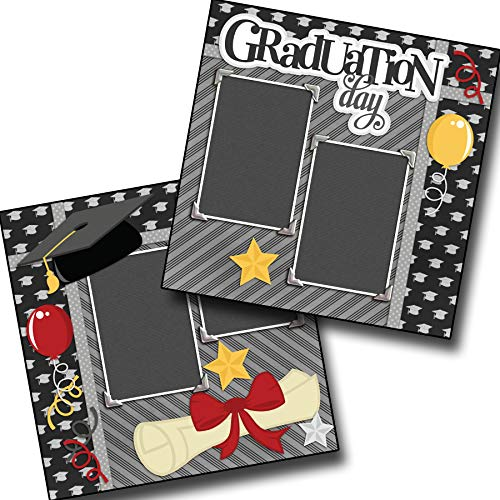 Graduation Day - Premade Scrapbook Pages - EZ Layout 2133