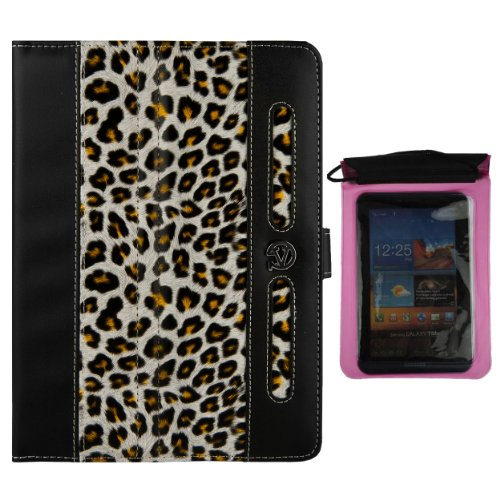 Vangoddy Dauphine Executive Portfolio Cover Case For Dell Venue 7 7-inch Tablet + Pink Waterproof Sleeve