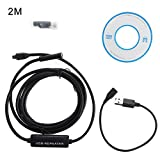 Mimgo 8.4mm Android Endoscope, 6 LED Waterproof Inspection Camera with 2M Snake Soft Wire for Android