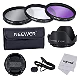 Neewer®52MM Professional Lens Filter Accessory Kit for NIKON D7100 D7000 D5200 D5100 D5000 D3300 D3200 D3100 D3000 D90 D80 DSLR Cameras, Kit includes: (1)52MM Filter Kit (UV, CPL, FLD) + (1)Tulip Lens Hood + (1)Snap-on Lens Cap + (1)Cap Keeper Leash + (1)Filter Carrying Pouch + (1)Microfiber Cleaning Cloth