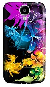 Beautiful Fractal Flowers Custom Samsung Galaxy I9500/Samsung Galaxy S4 Case Cover Polycarbonate 3D