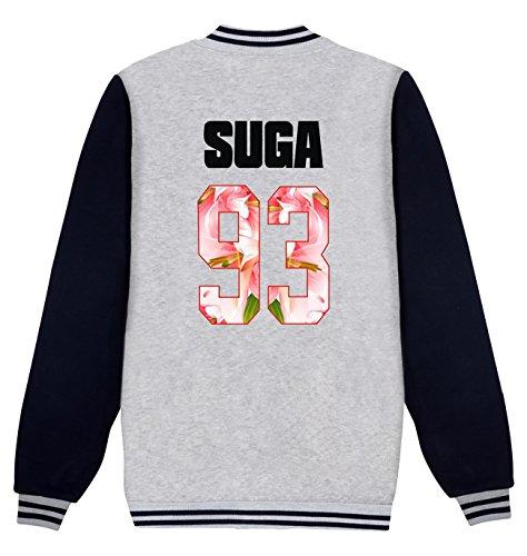 Suga Bangtan Grigio Rap con Kook BTS da SERAPHY Forever Jin Jung Mostro Young boys Jimin cappuccio Felpe 93 Hope suga Giacca Giacche baseball BTS J V YxnnTIgRO