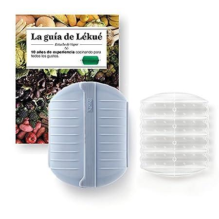 Lekue - Estuche de vapor, Con bandeja y libro en Español, Gris ...