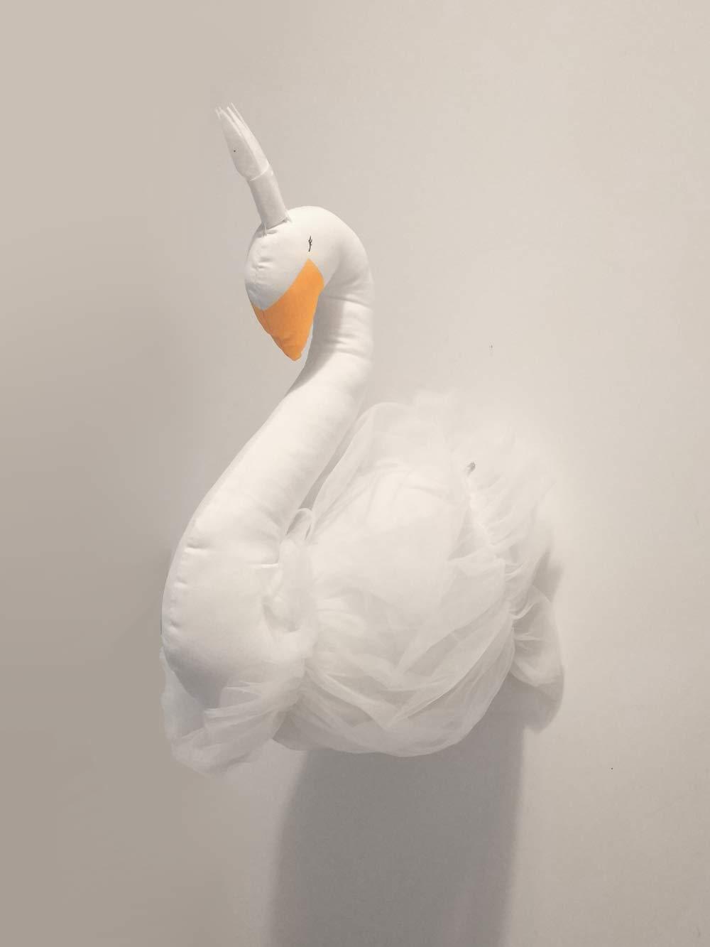 T/ête de Cygne Animal Murale D/écoration /à Suspendre Lovely Enfant Chambre D/écoration Murale Mignon en Peluche Jouets