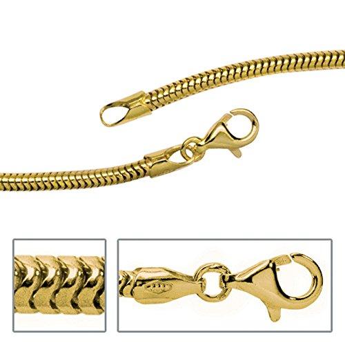 Jobo Chaîne Collier Or Chaîne Serpent en or jaune 3332,4mm 42cm