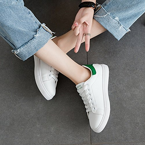 Tamaño Verde uk5 Beat Kong cn38 Hong Small Shoes 5 Acogedor Style Street Negro Eu38 Zapatos Ocio White Plate Lvzaixi color qcgwcHx6a1