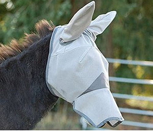 Cashel Crusader Standard Mule Donkey Fly Mask with Long Nose and Ears, (Horse)