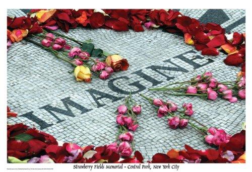 Imagine Strawberry Fields Memorial Art Poster Print
