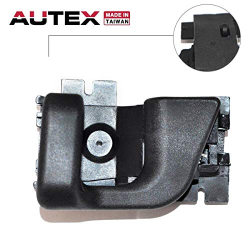 AUTEX Door Handle Black Interior Front Left Driver Side Compatible with Ford Bronco II 89 90 Replacement for Ford Ranger 1989 1990 1991 Door Handle 79508 E9TZ1021819A
