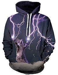 Imbry Unisex 3D Animal Print Pullover Hoodies Sweatshirts