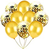 Inkach- Confetti Balloons, 10pcs 12'' Latex Party Balloons for Baby Shower Birthday Decor (D)