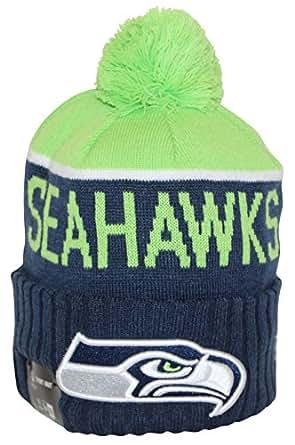 7d2838163ec Amazon.com  New Era NFL15 On-Field Sport Knit Seattle Seahawks Green ...
