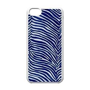 zebra print pattern blue iPhone 5C Case White