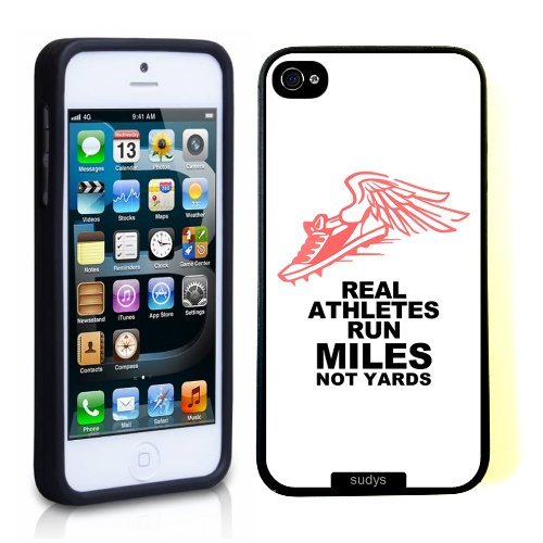 Tigers Runner Football (Deal Market LLC -SudysAccessories Runner Running Quote Run Miles Thinshell Case Protective New iPhone 5 Case New iPhone Xs MAX (2018 Model) Includes 1 Screen Protector CaseShips from Florida)