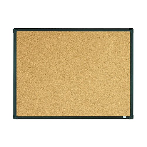 Lockways Bulletin Cork Board - Notice board 24 x 18 - Ultra-Slim Black Aluminium Frame U12118780809 For Home, School & Office (SET Including 10 Push Pins) (24 x 18
