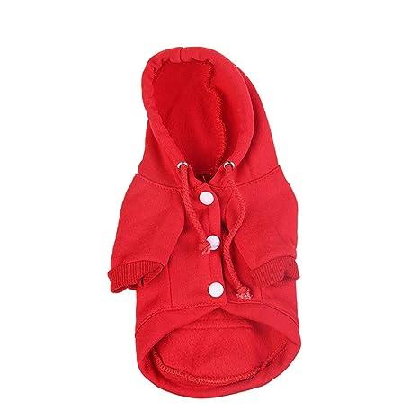 Ropa para Mascotas,Gusspower Abrigo Algodón de Invierno Sudaderas con Capucha Camisetas Mantener Caliente Perro