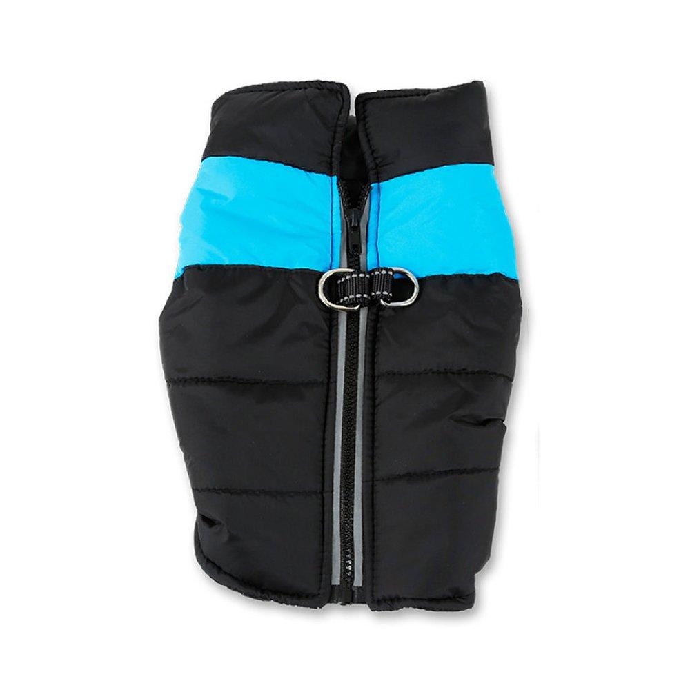 A X-Large A X-Large LDFN Waterproof Dog Coat Pet Zipper Clothes Big Dog Coat Thickened Jacket Vest Winter,A-XL