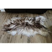 Genuine Icelandic Sheepskin Rug Throw - shade of brown