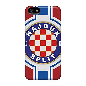 Fashion Protective Hajduk Split Football Team Flag Sport Cases Covers For Iphone 5/5s