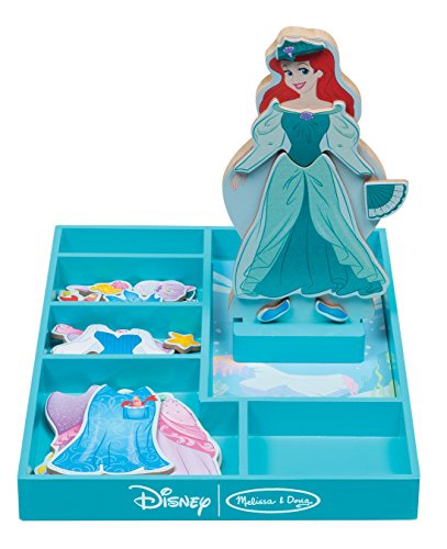 Melissa & Doug Disney Ariel Magnetic Dress-Up Wooden Doll Pretend Play Set (30+ pcs)