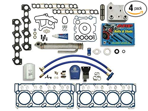 Sinister Diesel Complete Solution w/EGR Cooler (Round), 18mm Ford Gaskets, Coolant Filter