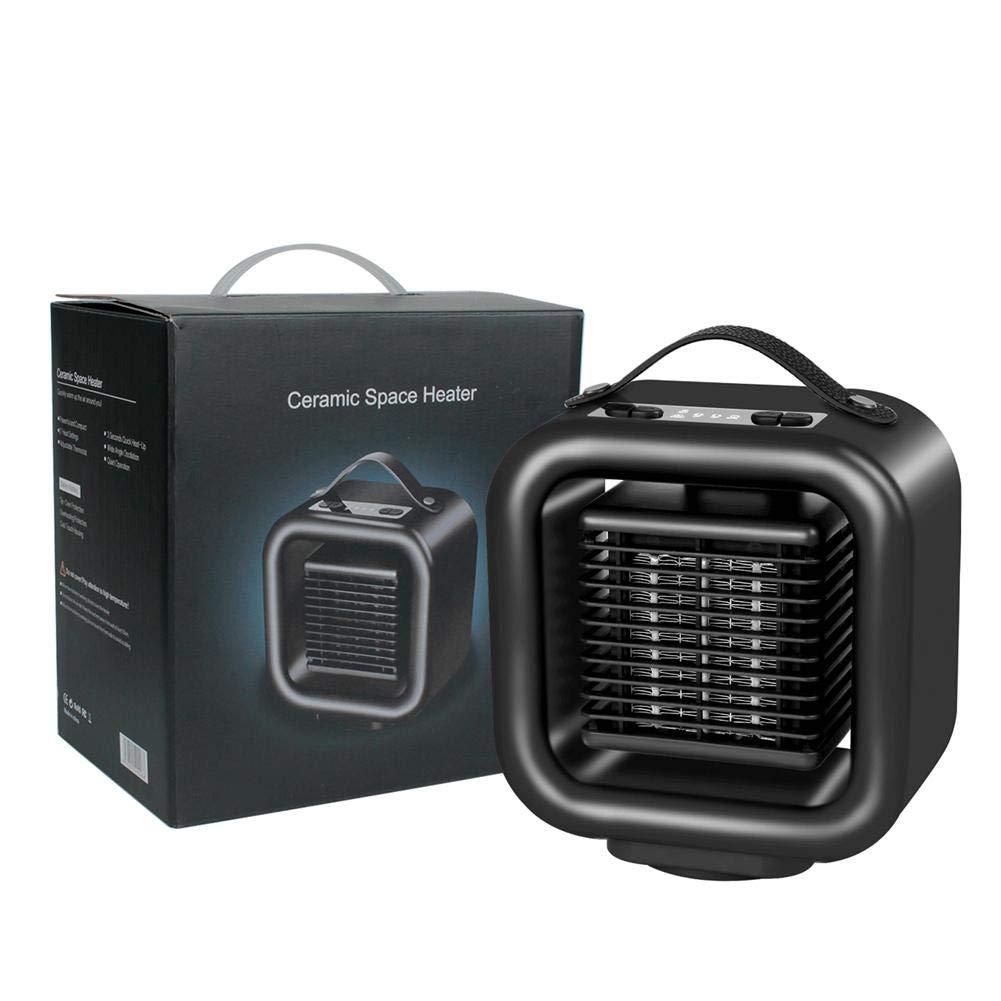 StageOnline Mini Estufa Eléctrica Portátil Calefactor Cerámico con Termostato Ajustable, Termoventilador Bajo Consumo para Casa/Oficina / Camper (1000 ...
