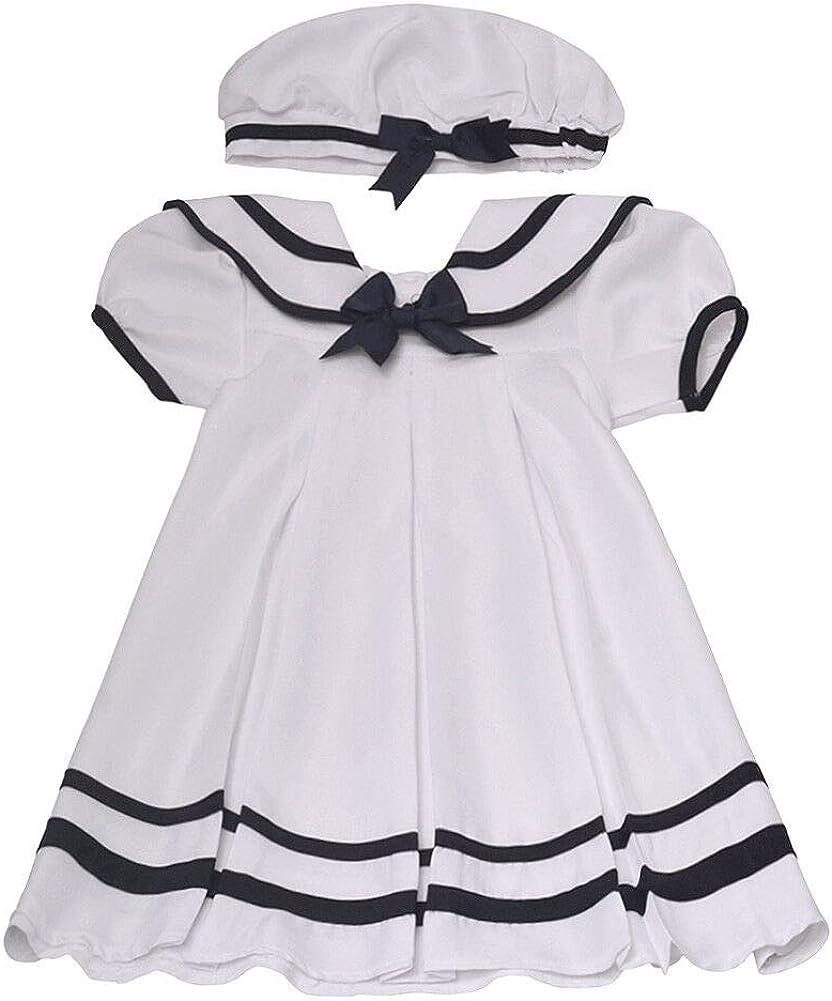 Kappe und Windelh/öschen Gr 62,68,74,80,86 Rare Editions Baby M/ädchen Matrosen Kleid inkl
