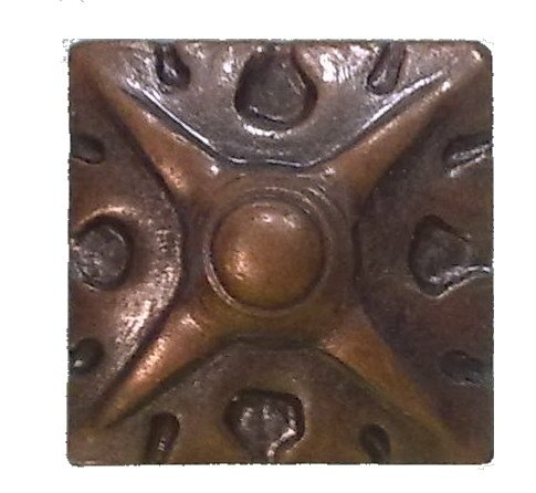 """decotacks Square Art Upholstery Nails/tacks 5/8"""" x 5/8"""" (17MMx17MM) - 25 Pcs [Antique Copper, French Natural] DX8017AC from decotacks"""