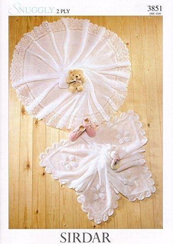 Sirdar Snuggly 2PLY Baby Shawl Blanket Knitting Pattern 3851 by Sirdar by Sirdar
