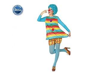 Atosa-26305 Disfraz Payasa, Color Celeste, XL (26305): Amazon.es ...