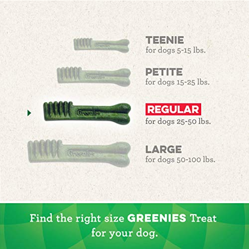 GREENIES Original Regular Natural Dental Care Dog Treats, 54 oz. Pack (54 Treats)