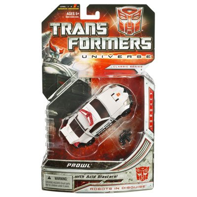 Transformers Universe Deluxe Class Classic Series Action Figure - Autobot Prowl with Acid Blasters