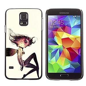 PC/Aluminum Funda Carcasa protectora para Samsung Galaxy S5 SM-G900 Cosmos Woman Watercolor Deep / JUSTGO PHONE PROTECTOR