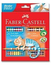 Faber-Castell 5171120624 Bicolor Boya Kalemi, 48 Renk