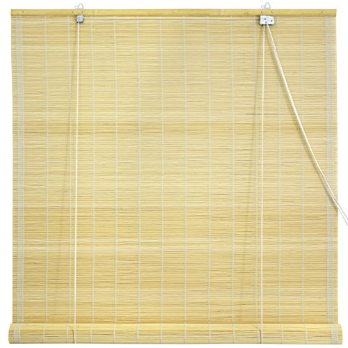 Oriental Furniture Matchstick Roll Up Blinds - Natural - (24 in. x 72 in.)
