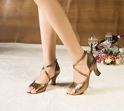 femme Gold Miyoopark 7cm heel bal Salle de TtSwSq7Z