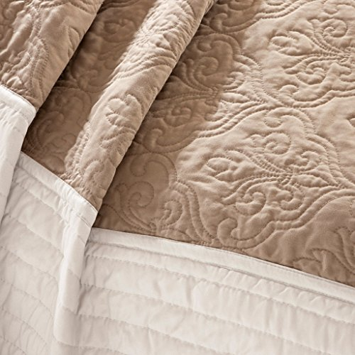 Madison Park Danville 7-pc. Quilted Coverlet Set, Beige,