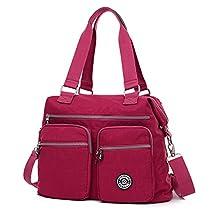 Outreo Women Handbag Travel Messenger Bag Waterproof Shoulder Bag for Sport Girls Satchel Cross Body Side Pack Nylon