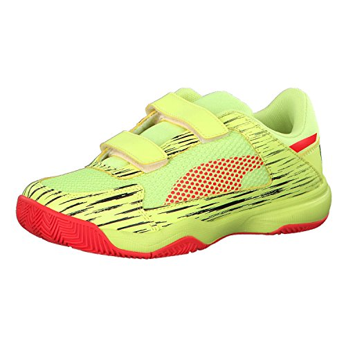 Puma Unisex-Kinder evoSPEED Indoor NF EU 5 V Jr Multisport Schuhe Fizzy Yellow-Red Blast-Puma Black